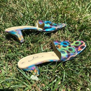 Vintage Shoes - Butterfly/flower mules